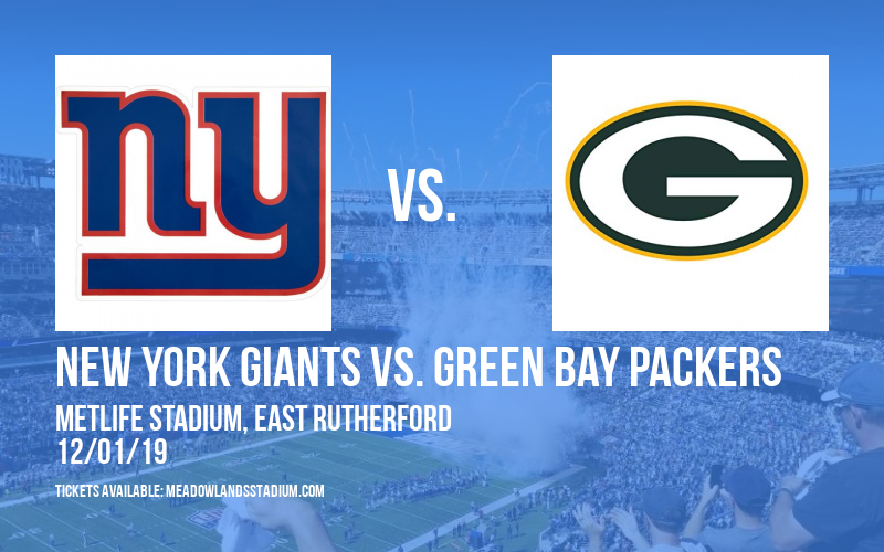 New York Giants vs. Green Bay Packers at MetLife Stadium