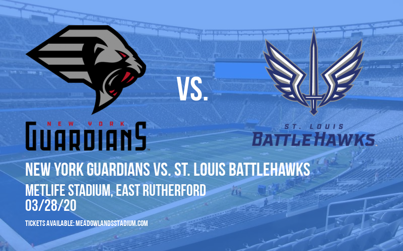 New York Guardians vs. St. Louis BattleHawks at MetLife Stadium