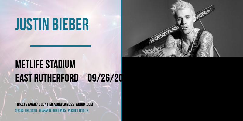 Justin Bieber [POSTPONED] at MetLife Stadium