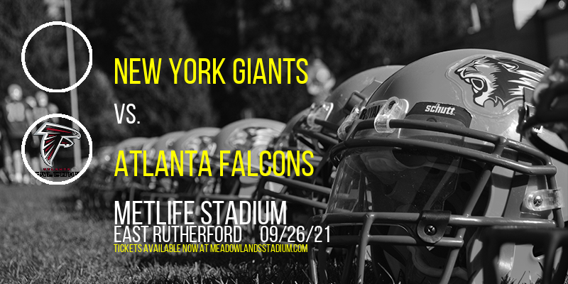 New York Giants vs. Atlanta Falcons at MetLife Stadium
