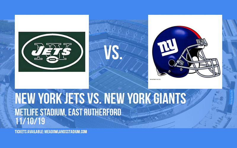 outlet store 1a492 54d31 New York Jets vs. New York Giants Tickets | 10th November ...