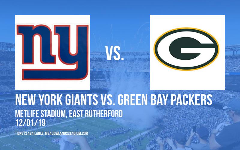 New York Giants vs. Green Bay Packers at MetLife Stadium