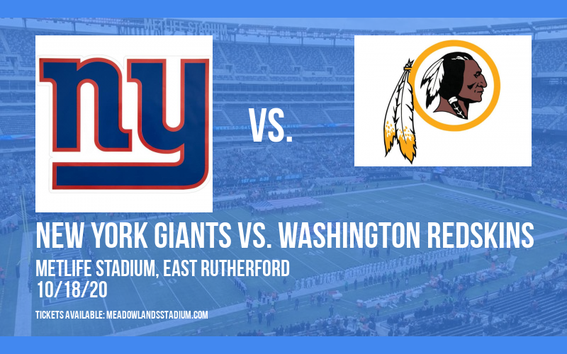 New York Giants vs. Washington Redskins at MetLife Stadium