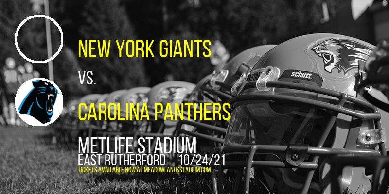 New York Giants vs. Carolina Panthers at MetLife Stadium