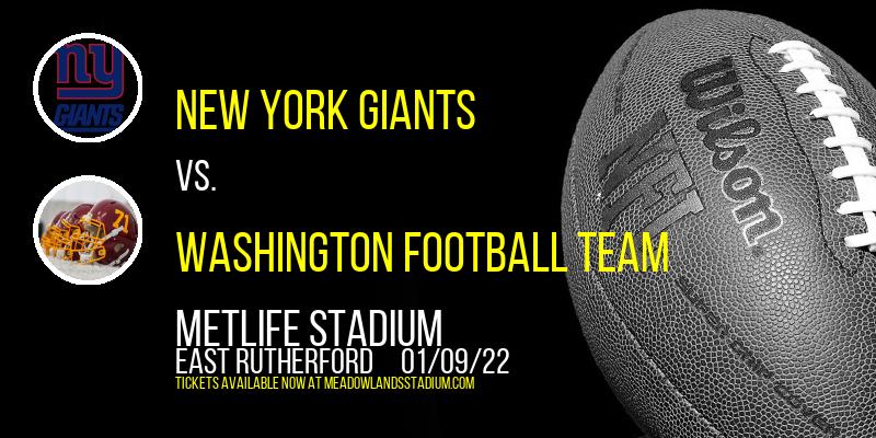 New York Giants vs. Washington Football Team at MetLife Stadium